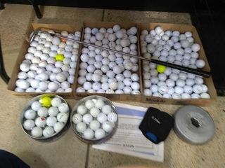 large Assortment of Golf Balls  Sand Wedge
