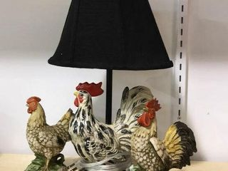 Rooster lamp  Hen and Rooster Figurines