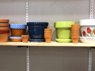 Variety of Sizes and Colors Of Flower Pots