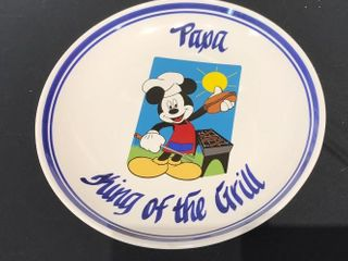 Disney Plate  Papa King of the Grill