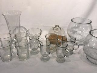 Clear Mugs  Covered Cheese Tray  Heavy Round