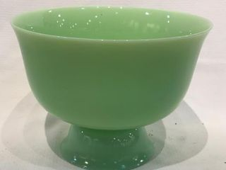 Jadeite Pedestal Bowl 10 inches across