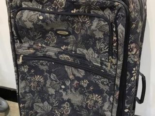 Jaguar large Floral Pattern Suitcase