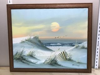 White Sands Ocean Sunset  Oil on Canvas  23 x 19