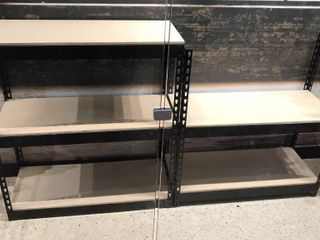 2  Metal Frame Storage Shelves