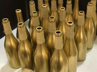 20  Gold Decorating Bottles  Burlap String
