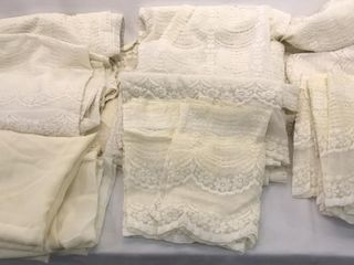 large Variety of lace Curtains  Sheers    Valances