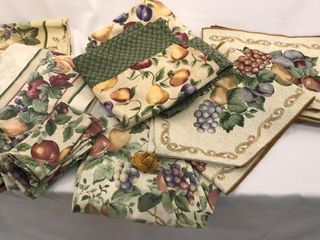 Fruit Pattern Table Cloth Set