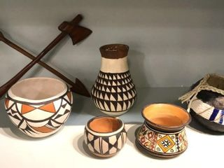 5  Acoma Pottery Pieces
