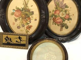 Oval Photo Frames and Reverse Glass Picture