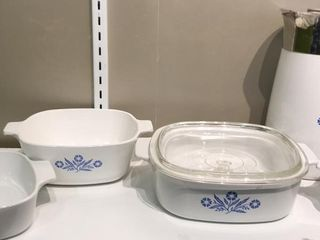 Corning Ware Bowls and Coffee Pot