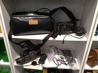 2  Canon 8mm Video Cameras w  Accessories