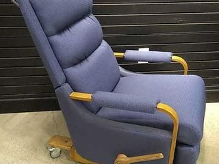 la Z Boy Blue Rolling Recliner