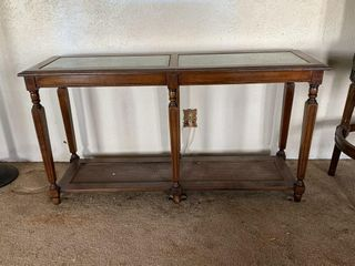 Wood and Glass Entryway Table