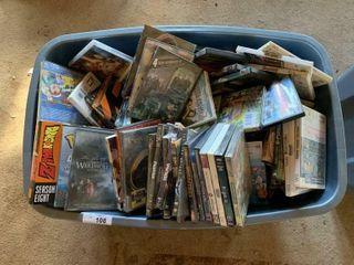Assorted DVDs  Wii games  etc