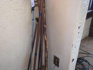 Assorted Walking Sticks and Callaway Golf Club