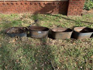 4   Cast Iron Oval Tubs
