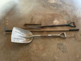2   Shovels and a Hoe