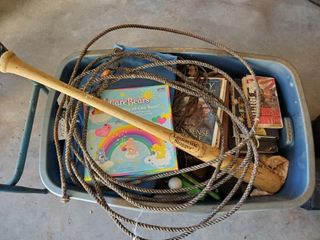 Tub of Toys  louisville Slugger