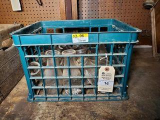 Vintage Milk Bottles and Crate