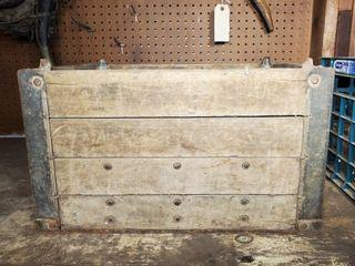 Vintage Wood Milk Crate