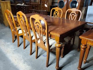 Spiral leg Dining Table and 5 Chairs