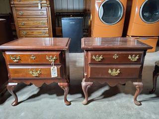 2   Wood Nightstands