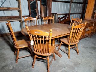 Tell City Dining Table and 6 Chairs