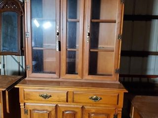 Young Republic Maple China Cabinet