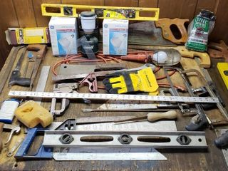 Misc Tools   Dexter Cleaver  Saws  levels  light