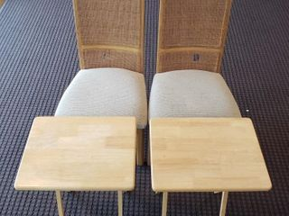 Straw Back Chairs   TV Trays