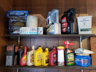 Contents of Garage Shelves