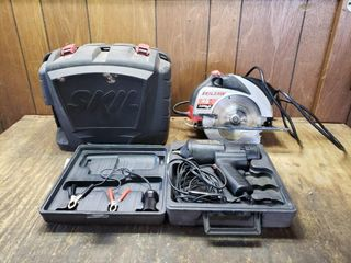 Skilsaw with Straight lazer   Mobile Impact