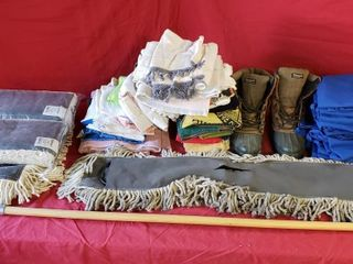 New Dust Mops   Aprons   Shop Rags   Boots