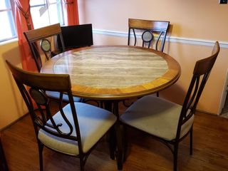 Marble Top Table   Chairs