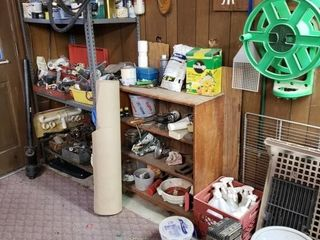 Group of Contents   Shelving in Garage