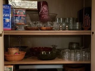 All Contents of Bar Cabinet  1