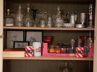All Contents of Bar Cabinet  2