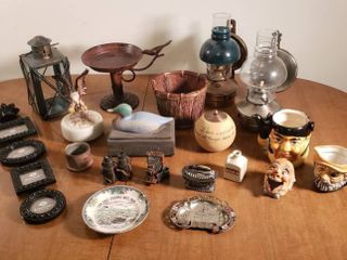 Home Decor   Vintage Wall Oil lanterns  Vintage Ceramic Items and other Decor