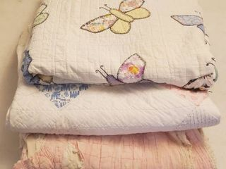 3 Old Quilts   72 x 84 in    Various Conditions   See Pix