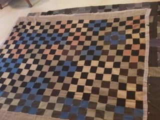 2 Vintage Wool and Tied Quilts