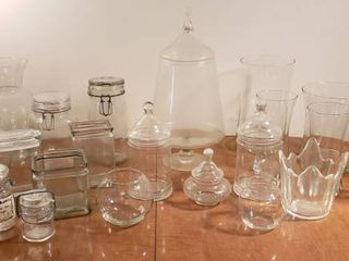 Clear Glass Vases  Jars  and Storage Containers
