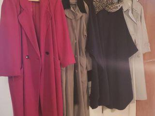 5 ladies long Winter Coats   Size large   Xlarge