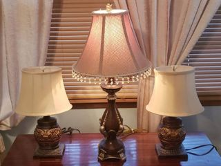 3 Table lamps   all Work  15 to 25 in  tall