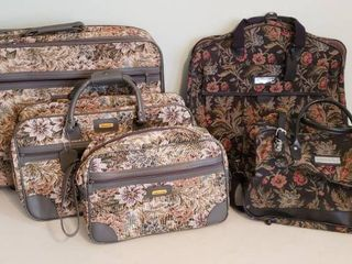 Sasson  3 Piece set and Jordache  2 pieces  Tapestry lUGGAGE