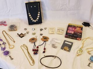 Costume Jewelry  Jewelry Repair Parts  Rings  and Buttons