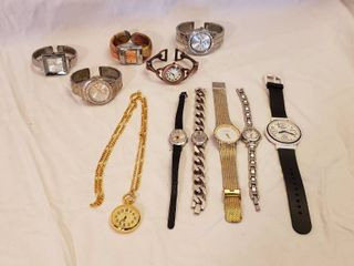 ladies Cuff Bangle Watches   Various Brands   Battery Operated and Other Watches   see pix