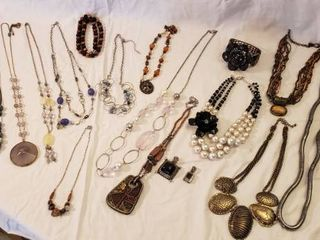 Costume Jewelry   Stone  Metals  and Others