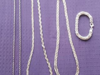 925 Silver Necklaces and one Bracelet   Italy