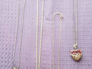 925 Silver Necklaces w Pendants